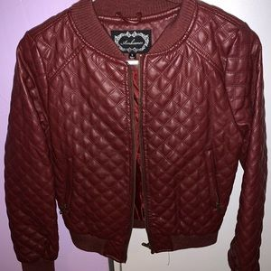 Jackets & Blazers - Maroon leather jacket